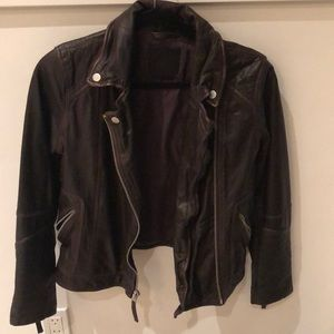 Abercrombie and Fitch all leather bomber jacket